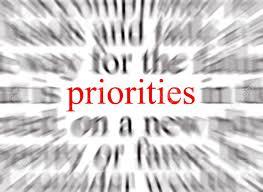 Have a relentless focus on key priorities!